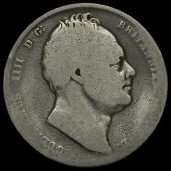 1835 William IV Milled Silver Half Crown Obverse