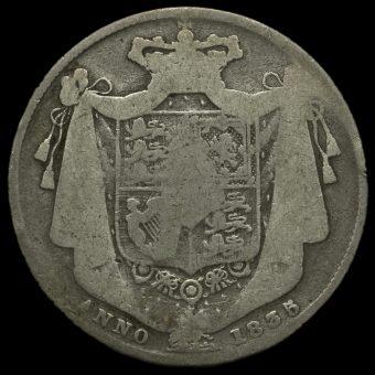 1835 William IV Milled Silver Half Crown Reverse