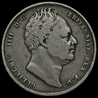 1836 William IV Milled Silver Half Crown Obverse