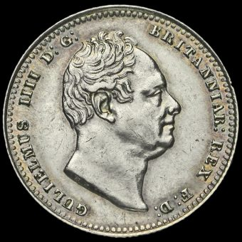 1836 William IV Milled Silver Shilling Obverse