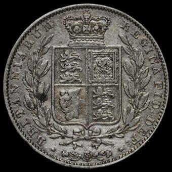 1842 Queen Victoria Young Head Silver Half Crown Reverse