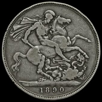 1890 Queen Victoria Jubilee Head Silver Crown Reverse