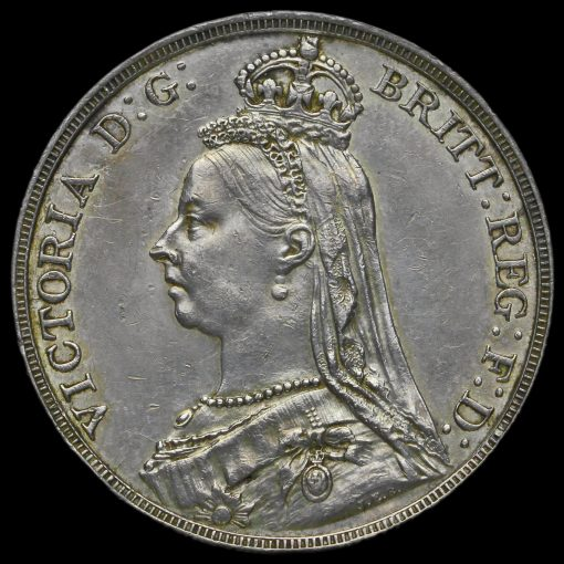 1892 Queen Victoria Jubilee Head Silver Crown Obverse