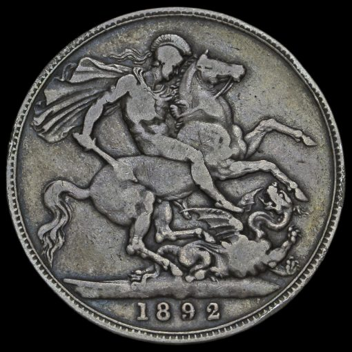 1892 Queen Victoria Jubilee Head Silver Crown Reverse