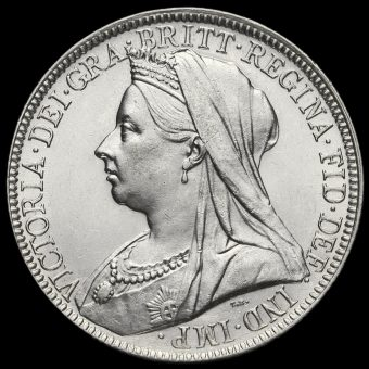 1894 Queen Victoria Veiled Head Silver Florin Obverse