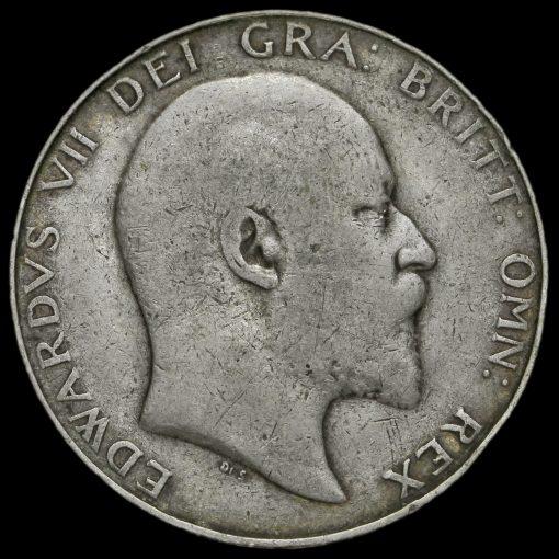 1909 Edward VII Silver Half Crown Obverse