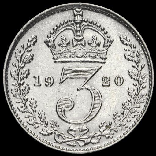 1920 George V Silver Threepence Reverse