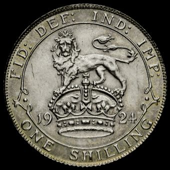 1924 George V Silver Shilling Reverse