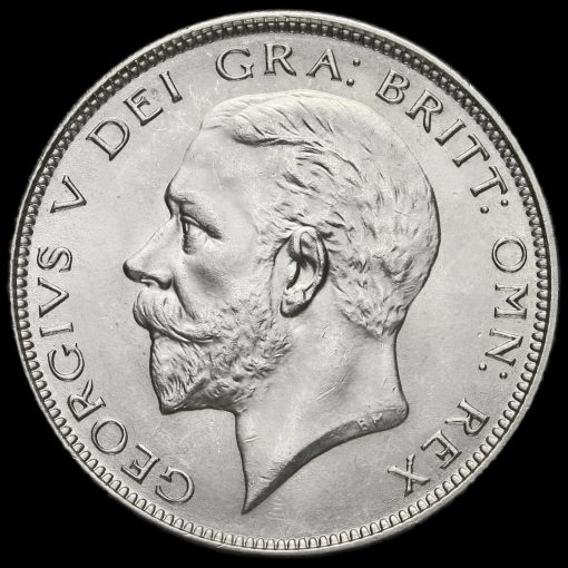 1926 George V Silver Half Crown Obverse