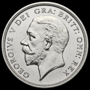 1927 George V Silver Proof Wreath Crown Obverse