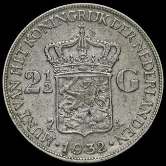 Netherlands 1932 2 1/2 Gulden Reverse