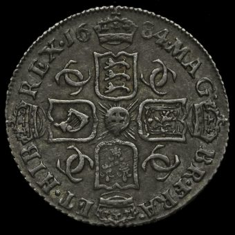 1684 Charles II Early Milled Silver Sixpence Reverse