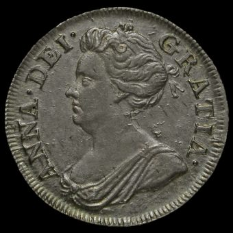 1710 Queen Anne Early Milled Silver Fourpence / Groat Obverse