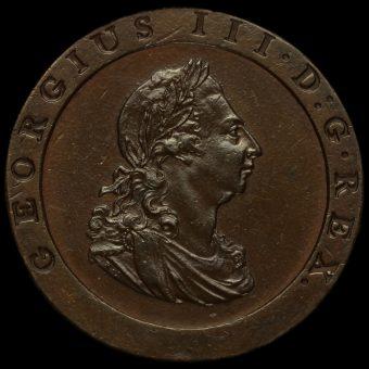 1797 George III Cartwheel Penny Obverse