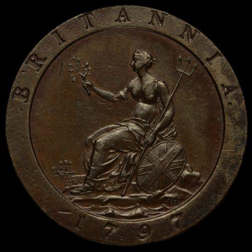 1797 George III Cartwheel Penny Reverse