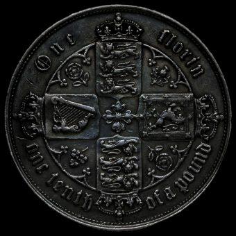 1856 Queen Victoria Gothic Florin Reverse