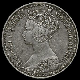 1878 Queen Victoria Gothic Florin Obverse