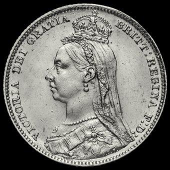 1889 Queen Victoria Jubilee Head Silver Shilling Obverse