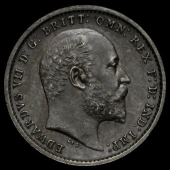 1905 Edward VII Silver Maundy Twopence Obverse