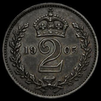 1905 Edward VII Silver Maundy Twopence Reverse