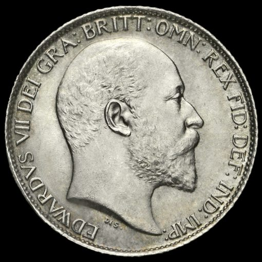 1908 Edward VII Silver Sixpence Obverse