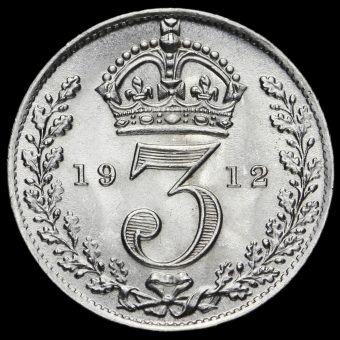 1912 George V Silver Threepence Reverse