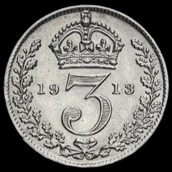 1913 George V Silver Threepence Reverse