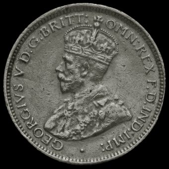 British West Africa 1914 George V Silver Sixpence Obverse