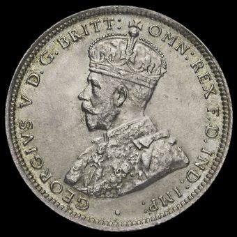 British West Africa 1914 George V Silver Shilling Obverse