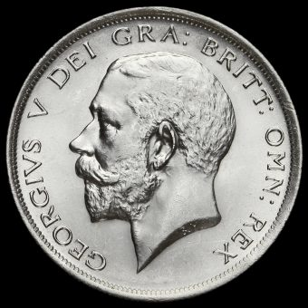 1916 George V Silver Half Crown Obverse