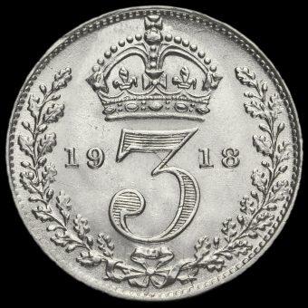 1918 George V Silver Threepence Reverse