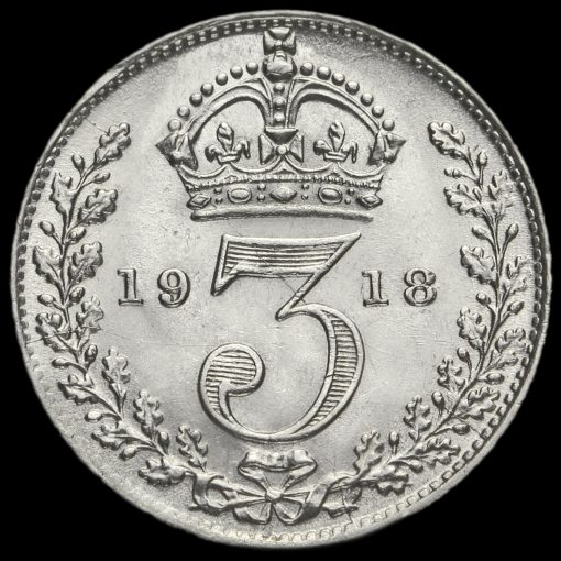 1918 George V Silver Threepence Reverse