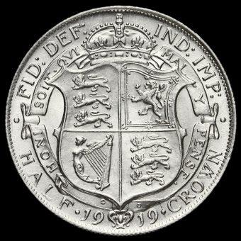 1919 George V Silver Half Crown Reverse