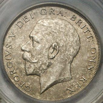 1923 George V Silver Half Crown Obverse