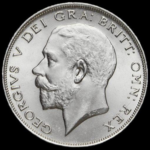 1924 George V Silver Half Crown Obverse