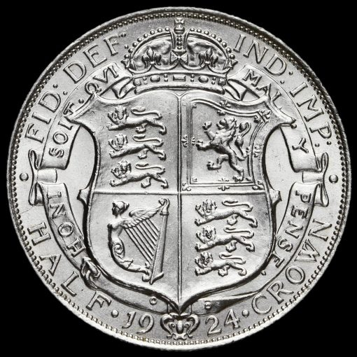 1924 George V Silver Half Crown Reverse