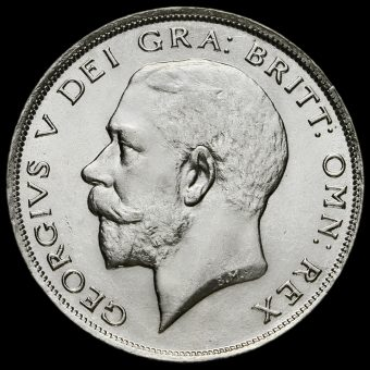 1924 George V Silver Half Crown Obverse