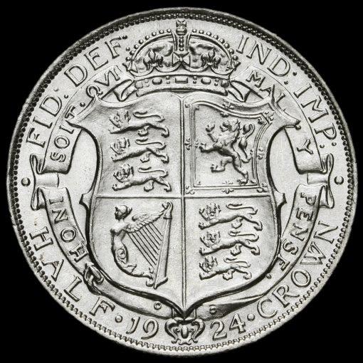 1924 George V Silver Half Crown Reverse