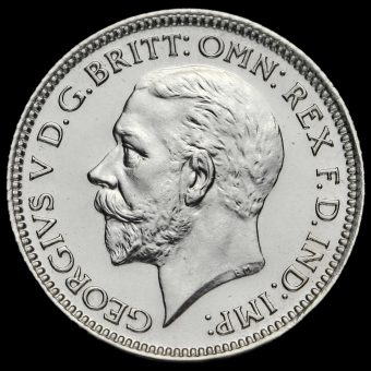 1927 George V Proof Silver Sixpence Obverse