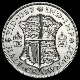 1927 George V Silver Proof Half Crown Reverse