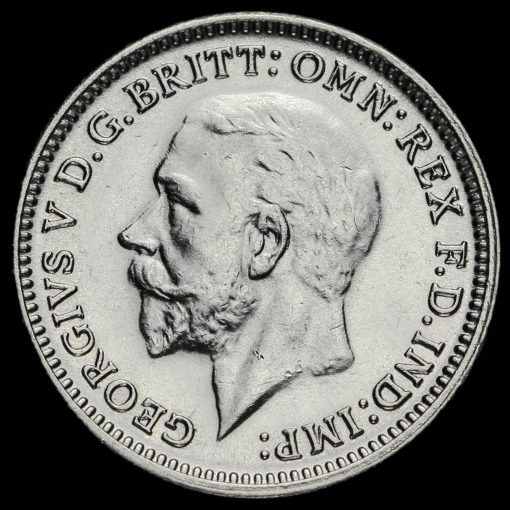 1930 George V Silver Threepence Obverse