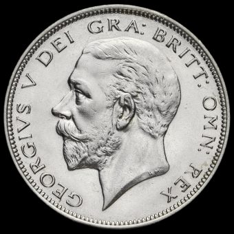 1932 George V Silver Half Crown Obverse
