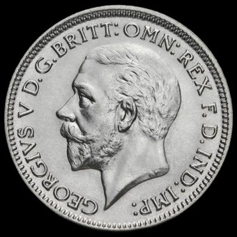 1934 George V Silver Sixpence Obverse