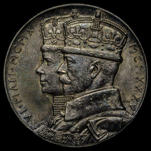 1935 George V Official Silver Jubilee Medal Obverse