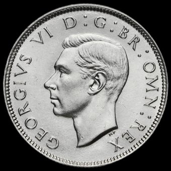 1939 George VI Silver Two Shilling Coin / Florin Obverse