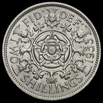 1953 Elizabeth II Two Shillings Coin / Florin Reverse
