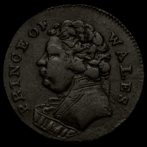 Middlesex, Prince of Wales Farthing Token Obverse