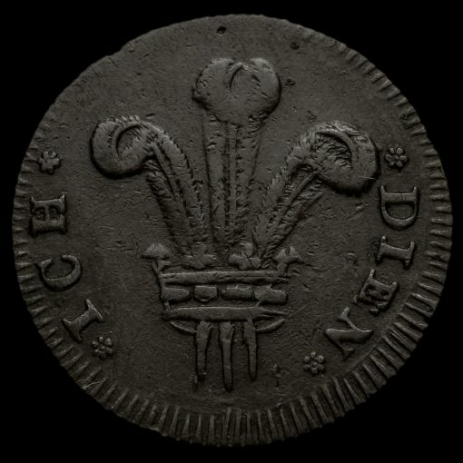 Middlesex, Prince of Wales Farthing Token Reverse