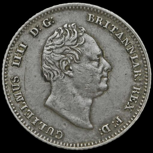 1836 William IV Milled Silver Fourpence / Groat Obverse