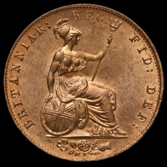 1841 Queen Victoria Young Head Copper Halfpenny Reverse
